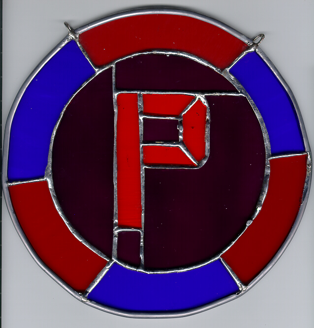 Stained Glass Letter P